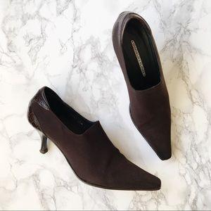 Donald J. Pilner Brown Stiletto Ankle Booties
